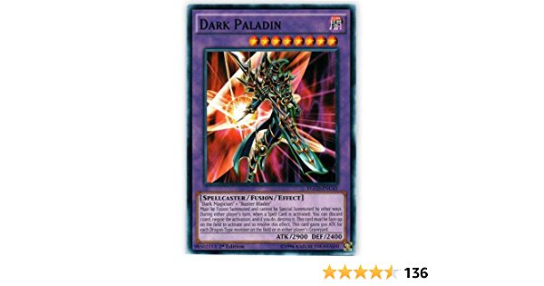Occasion card yu gi oh paladin of darkness ygld-frc41