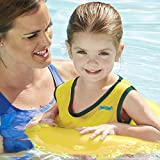 SwimSchool Deluxe Tot Trainer, Fabric Swim Training Aid, Safety Strap,Inflatable Tube, 2-4 years