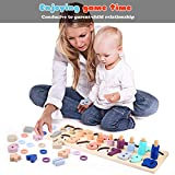 Voamuw Wooden Number Puzzle Sorting Stacking Toys