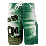 MADHERO Mens Quick-dry Polyester Contrast Color Lightweight Boardshorts (S-2XL)