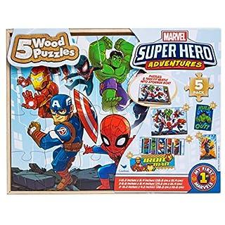 5 Wood Puzzles Set Marvel Super Hero Adventures