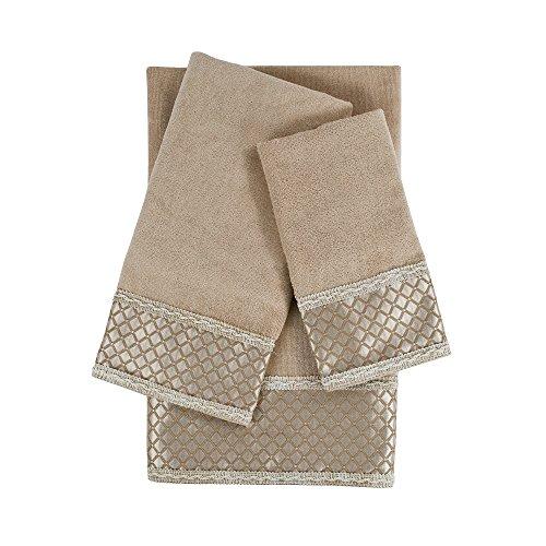 Sherry Kline Manor Taupe 3Piece Embellished Towel Set Manor 3Piece Embellished Towel Set,Taupe (Embellished Towel Sets)