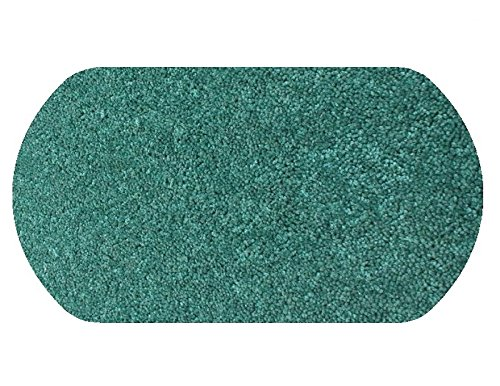4'X6' OVAL Area Rug Carpet. CARRIBEAN OCEAN TEAL BLUE 30 oz. ½