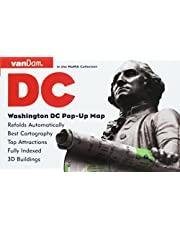 Washington DC Pop-Up Map by VanDam - Patented, laminated pocket city street map of Washington DC w/ all attractions, museums, monuments, sights, ... ... 2019 Edition Map – Folded Map, April 26, 2019