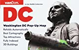 Washington DC Pop-Up Map by VanDam - Patented, laminated pocket city street map of Washington DC w/ all attractions, museums, monuments, sights, ... ... 2019 Edition Map - Folded Map, April 26, 2019