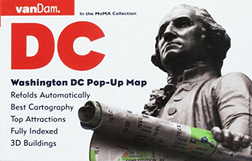 Pop-Up Washington DC Map by VanDam - City Street Map of Washington DC - Laminated folding pocket size city travel and Metro map with all attractions, ... and hotels (Pop-Up Map), 2018 Edition