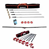 ZipWall 12 4-Pack Dust Barrier System w/ Adjustable Tapeless Seal & Wall Mount