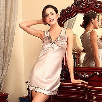 XBR Pijamas de seda, verano sleepwear, hoja de loto, las pijamas de seda