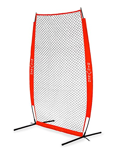 Big Red 7' I Screen Bow Style Protection Net with Frame and Carrying Bag by Red Athlete