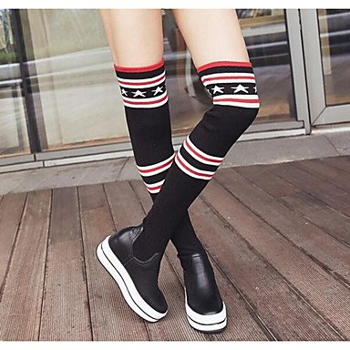 Snow Winter US6 RTRY Green Cowhide 5 UK4 CN37 Boots The Fall Casual 7 Knee Shoes Boots Comfort EU37 Army For Women'S 5 Black 5 Boots Over qCUxwUYIFn