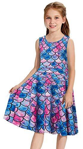 Red Fish Blue Fish Costumes - Goodstoworld Little Girls Mermaid Dress Red