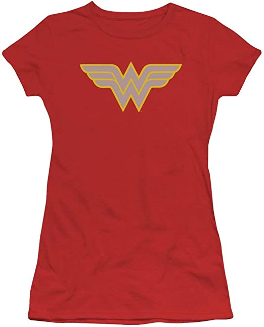 DressCode Wonder Woman Juniors Wonder Woman 75Th Anniversary Gold Logo Tank Top