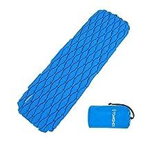 TOMSHOO Innovation Ultralight Inflatable Sleeping Pad Camping Pad Mat Mattress Ideal for Camping, Hiking, Traveling, Backpacking, Hammock Picnics
