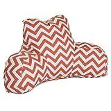 Majestic Home Goods Chevron Reading Pillow, Burnt Orange