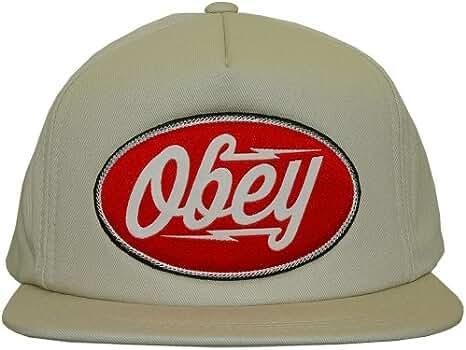 OBEY - Gorra con visera plana para hombre Gasoline - Light Khaki ...