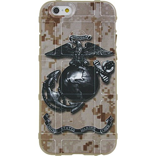 EGO Tactical Limited Edition Design UV-Printed onto a MAG849 Field Case Compatible with Apple iPhone 7 + Plus, 8 + Plus, 7+, 8+ DDC, Subdued US Marine Corps