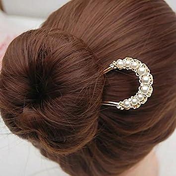 Crystal Metal Hair Fork Chignon Hairpin Chignon Top Clip U Shape Hair Stick