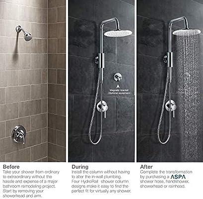 ASPA sistema de columna de ducha con cabezal de ducha de 8 ...