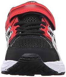 ASICS Pre-Contend 3 PS Running Shoe (Little Kid), Black/White/Vermilion, 11 M US Little Kid