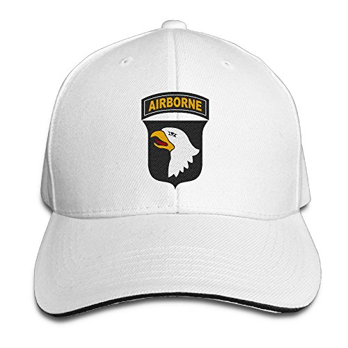 ETACAP Army 101st Airborne Division Embroidered Baseball Cap Dad Cap Adjustable Sandwich Bill Hat Low Profile Plain Cap