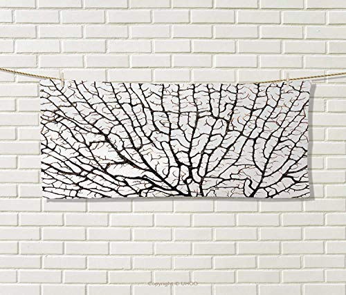 Anniutwo Old Forest,Travel Towel,Cracked Curly Coral Branch Like Earth Surface Tree Life Nature Woodland Theme,Quick-Dry Towels,Beige Size: W 14'' x L 27.5'' by Anniutwo