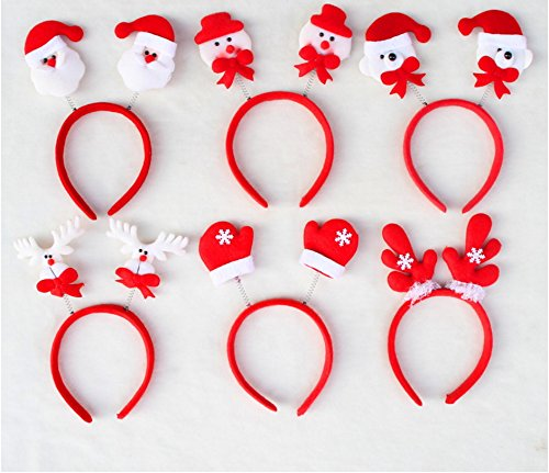 E&L 6 PCS Christmas Headband Headwear Hair Hoop for Party, Cosplay, Christmas Decoration