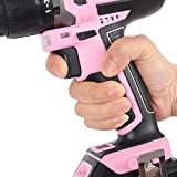 WORKPRO Pink Cordless 20V Lithium-ion Drill