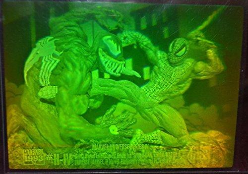 (Marvel Universe Series 4 Trading Card Ultra Rare Venom vs Spider-Man Hologram H4 (1993))