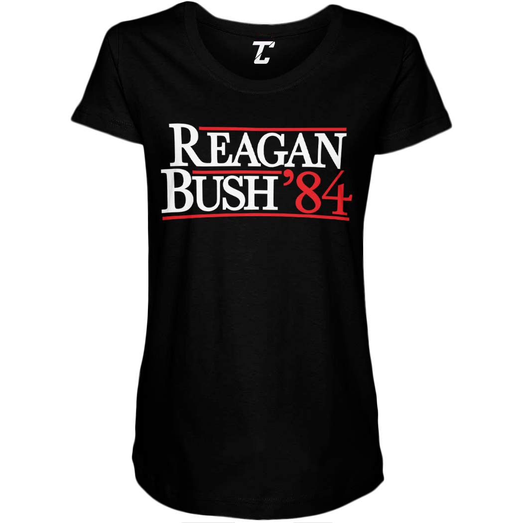 Reagan Bush 84 Retro Vintage Election Side Ruched Maternity T Shirt