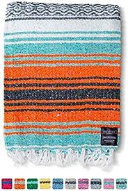 Mexican Blanket, Falsa Blanket | Authentic Hand Woven Blanket, Serape, Yoga Blanket | Perfect Beach Blanket, N