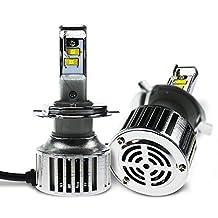 Evitek LED Headlight Bulbs for Cars Motorcycles- Hi/Lo Beam H4 9003- Plug n Play, 40W 6500K Pure White OSRAM Chip LED Bulbs