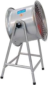 KMMK Home Electric Fan,Industrial Pedestal Fan Oscillation Fan Industrial Cooling/High Power Floor Fan Portable Quiet/4 Rotor Blades Large Pedestal Stand Fan, Extra Wide Base Heavy Duty