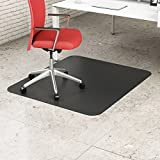 Deflect-o Black Mat 45`` x 53`` Rectangle-Hard Floor - DEFCM21242BLK ##buydmi