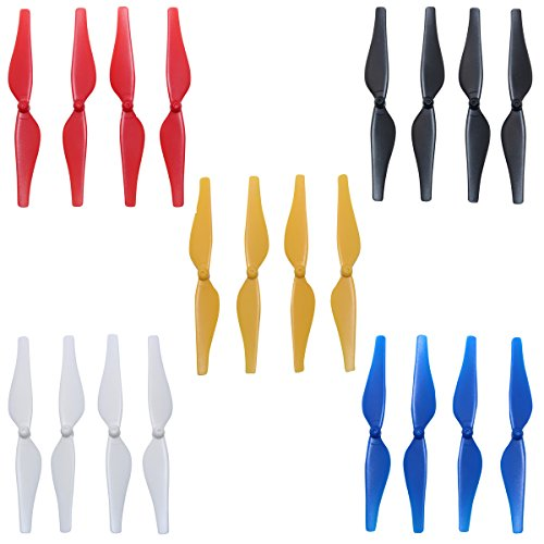 5 Colors Propeller Accessories New Quick Release Low-Noise Propellers  CCW/CW Props Blades for DJI Tello RC Quadcopter,Pack of 5 Sets (Black+  White +