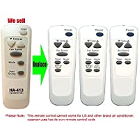 HA-413 Replacement for COMFORT-AIRE Air Conditioner Remote Control 6711A20066C Works For RAD-101A RAD-121A RAD-123A RAD-141-5 RAD-141A RAD-61A RAD-81A RAD-81C RADS-101A RADS-81B REG-123A REG-71A