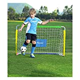 Mini Football Goal Net Detachable Simple for Children and Teenagers with Football and Pump