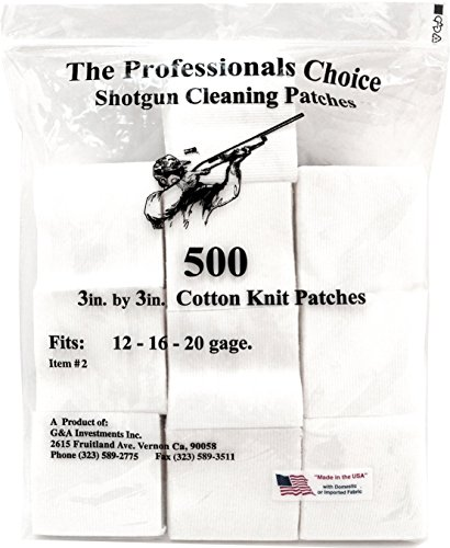 Professional's Choice Gun Cleaning Patches (500 Pack) Cotton Knit  - 3