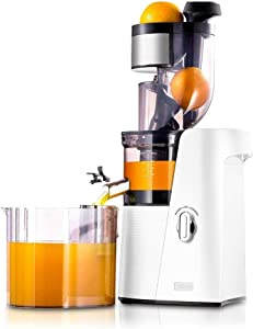SKG Slow Masticating Juicer Cold Press 36 RPM Big Mouth Juice Extractor,White