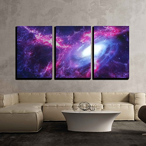Space Background with Nebula and Galaxy x3 Panels