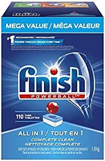 Finish Dishwasher Detergent, All in 1 Powerball, Fresh, Mega Value Pack, 110 Tablets, Fast Action Clean (B01MT0PZD7)   Amazon price tracker / tracking, Amazon price history charts, Amazon price watches, Amazon price drop alerts