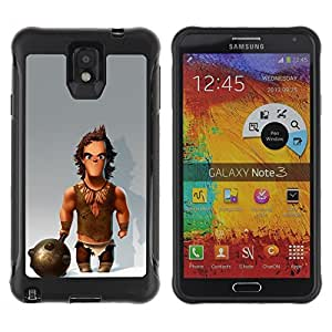 "Hypernova Defender Series TPU protection Cas Case Coque pour SAMSUNG Galaxy Note 3 III / N9000 / N9005 [Músculos Caveman Club de Nieve""]"