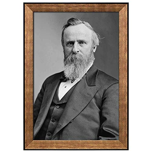 Print Art Portrait of Rutherford B Hayes (19th President of The United States) American Presidents Series Art Paintings for Kitchen/Living Room Office Decor Stretched and Framed ()