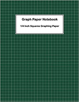 amazon graph paper notebook 1 4 inch squares graphing paper 1 4