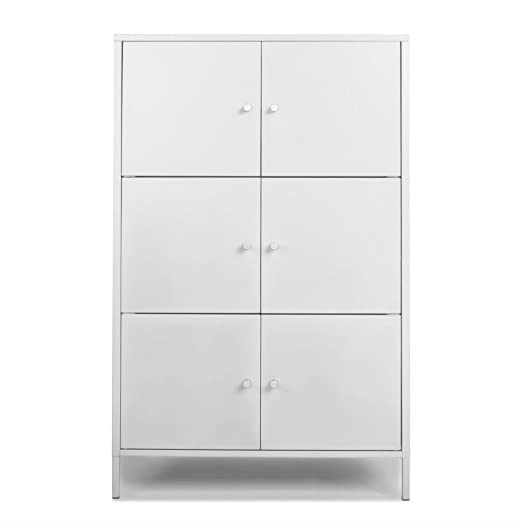 Amazon.com: ikayaa de alto oficina Metal gabinete de ...