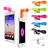 FNWD 2-in-1 Mini Cell Phone Fan for iPhone/iPad and Android (6-Pack)