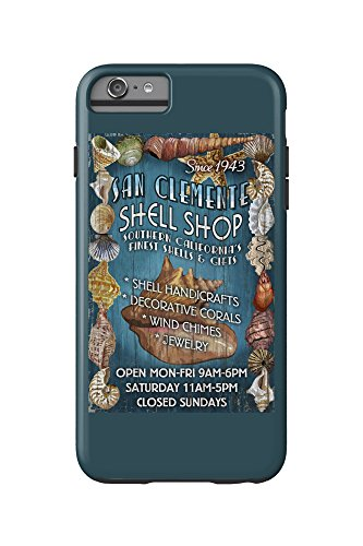San Clemente, California - Shell Shop Vintage Sign (iPhone 6 Plus Cell Phone Case Cell Phone Case, - San Clemente Shops