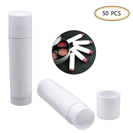 OZUAR 50 Paquete Envases de Labios Bálsamo de Plástico Vacío Tubos 5g Lápiz Labial de Botella