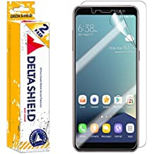 Samsung Galaxy A8 Screen Protector (2018)[2-Pack], DeltaShield BodyArmor Full Coverage Back + Front Screen Protector for Samsung Galaxy A8 Military-Grade Clear HD Anti-Bubble Film