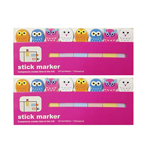 Wrapables Bookmark Flag Tab Sticky Markers, Owls, Set of 2 for $<!--$3.99-->