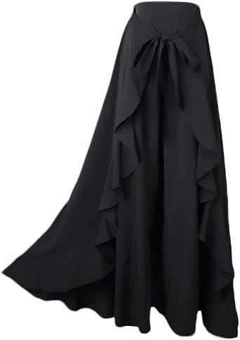 Mujer Falda Pantalon Elegantes Cintura Alta Faldas Largas Color ...